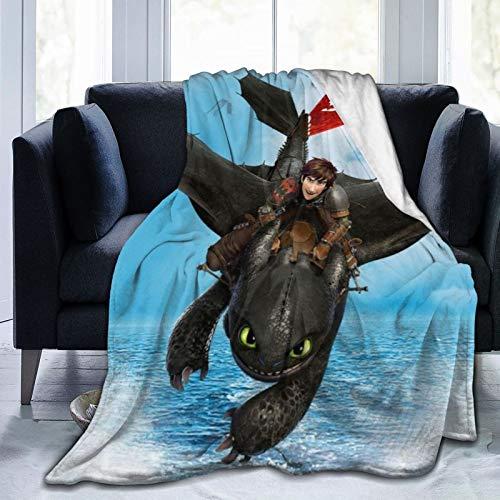 Tra-in Your Drag-on atrapasueños Magic l-e-go figuras de acción Mantas ligeras suaves súper suaves sofá de Pascua y cama, marrón 80 x 60 pulgadas