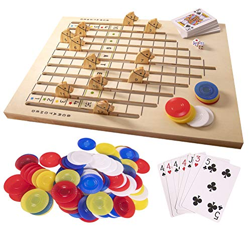 Silly Goose Games: Racing Horse Game; Wooden Race Track Game
