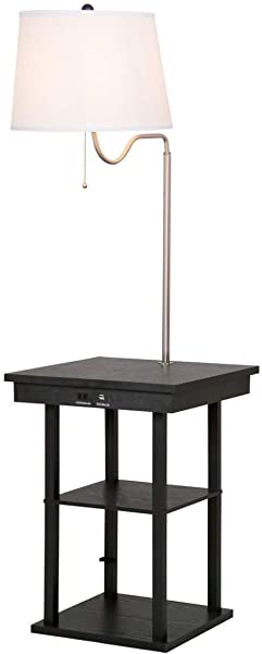 Table Swing Arm Floor Lamp With Shade 2 USB Ports
