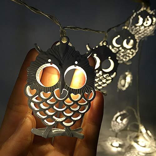Cadena De Luz Solar Luz Led Vacaciones Creativo Búho Luz Cadena De Batería Navidad Regalo De Cumpleaños Guirnalda Luz De Hadas
