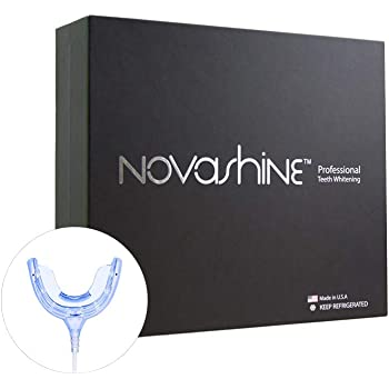 Novashine Professional Teeth Whitening Kit For Him: Advanced Blue LED Light, Concentrated Peroxide Gel, Smartphone Adapter, Travel Bag & 2-Year Warranty