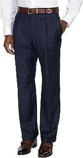 Paul Fredrick Men's Essential Wool Pleated Suit Pants