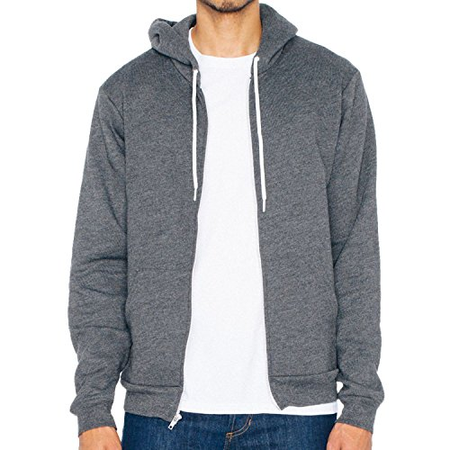 American Apparel Flex FFleece Zip Hoodie (F497) (Größe L, 106,7 / 111,8 cm, Dark Heather Grey)