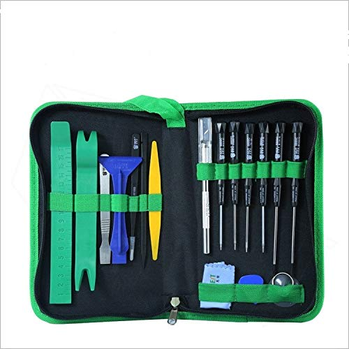 ZJYSM Professional Miniskirt Portable Repair Tool Kit With Portable Bag For Computer Phones, 20 Piece Professional Charismatic Screwdriver Set ZJYSM