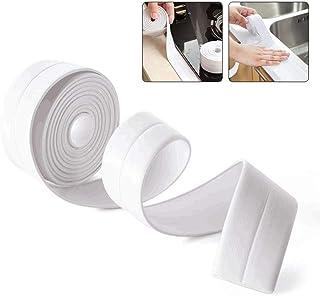 Caulk Strip, Womdee 3.2M/105FT PE Sealing Tape Waterproof Self Adhesive Caulking Roll Mildewproof Repair Tape for Bathtub ...