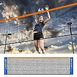 Red de voleibol portátil de malla cuadrada para jardín y jardín, red de bádminton, red de competencias multiusos, red de fácil instalación, para interior, exterior, playa, calle,