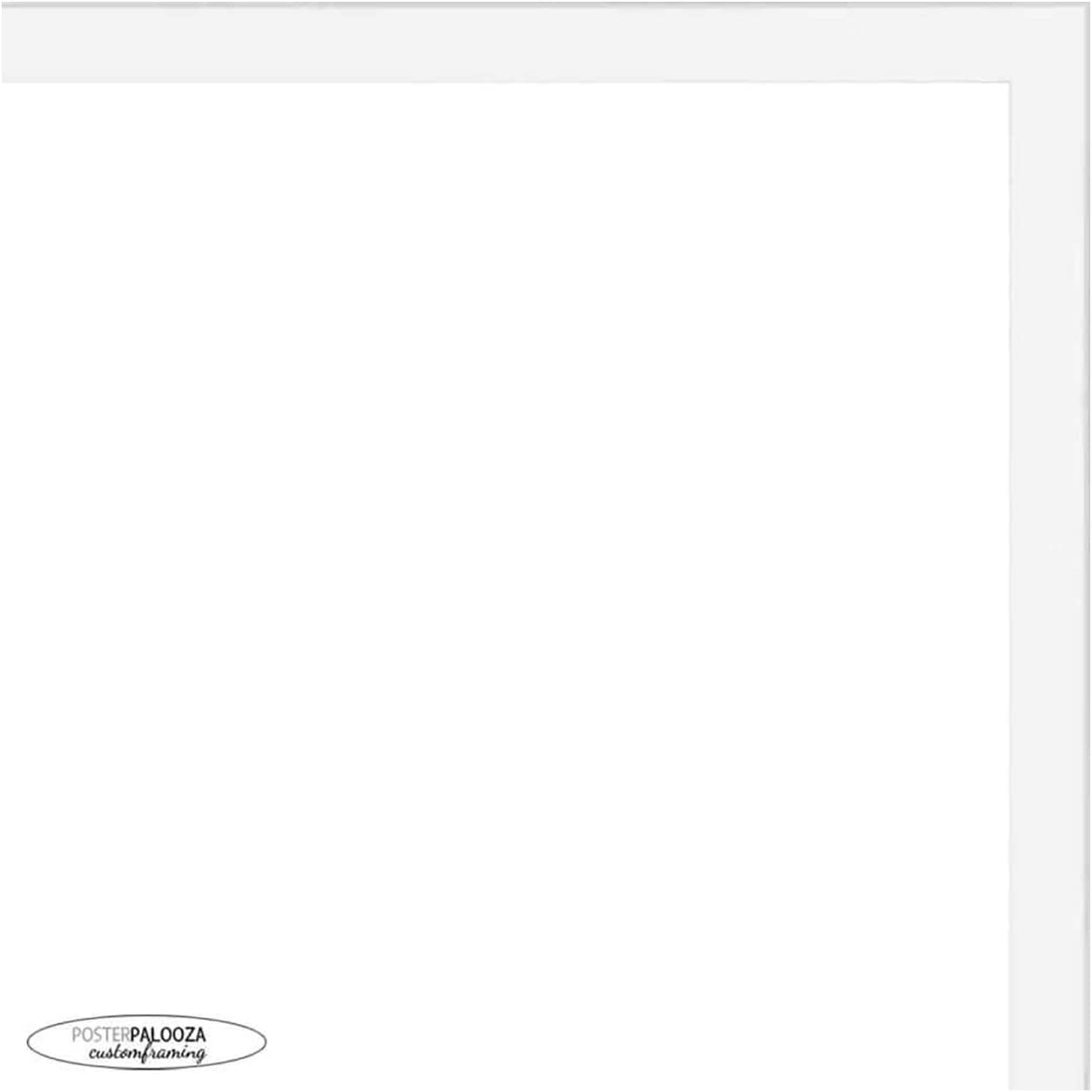 Poster Palooza 8x24 Contemporary White Wood Picture UV A Max 89% High material OFF Frame -