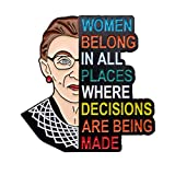 CaseNN for RBG Pin Soft Enamel Pins Notorious I Dissent for Ruth Bader Ginsburg Justice Lapel Pins Brooch for Women Badges Pin Cartoon Figure Brooch for Clothing Bags Jackets Hat Accessory Decoration