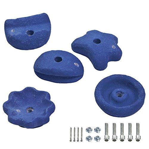 FATMOOSE GrabOn XXL 5 Klettersteine Blau, ca. 12cm