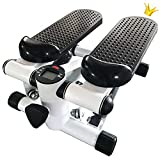 Anth Mini Stepper 2 en 1 para la casa, Fitness Up-Down Swing Stepper, pequeño aparato para el fitness para piernas y Pozidriv, entrenamiento en casa, con pantalla