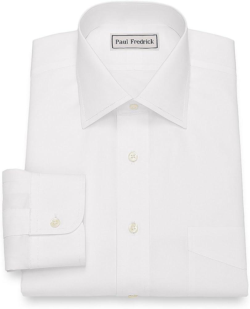 Paul Fredrick Men's Slim Fit Impeccable Non-Iron Dress Shirt
