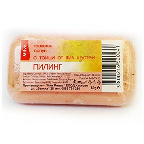 MILVA, Peeling Seife mit Kleie Rosskastanie, 60 g