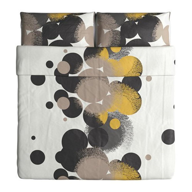 デザート鳩トーストIkea Bolltistel Duvet Cover and Pillowcases, King, Yellow by Ikea [並行輸入品]