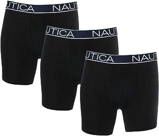 نوتيكا الرجال 3 قطع ملابس داخلية كلاسيكية القطن تمتد الملاكم موجزات موجزات