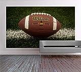 Nfl Wilson Fußball Nahaufnahme auf dem Spielfeld Foto selbstklebende Tapete Wandbild-350 * 245Cm