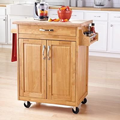 Mainstays Kitchen Island Cart, Multiple Finishes by Mainstays
