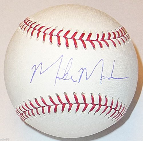MIKE MADSEN SIGNED BASEBALL AAA MINORS OAKLAND A'S NOTRE DAME - CATHEDRAL LATIN