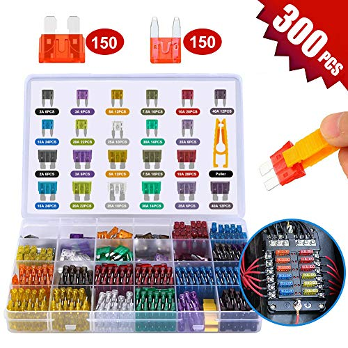 Car Fuses 300 Pcs, Mini Blade Fu...