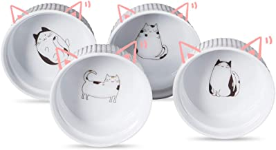 Cinf Ramekins Cat 10oz Cinf Porcelain 10 oz. Ramekins Baking Cup Bowls Dishes, Set of 4,Souffle Cups Dishes, Creme Brulee,...
