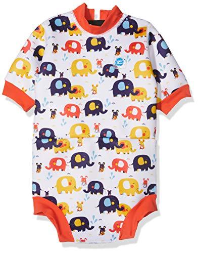 Splash About Baby Happy - Traje de Neopreno para bebé, diseño de Elefantes, Talla Grande de 6 a 14 Meses