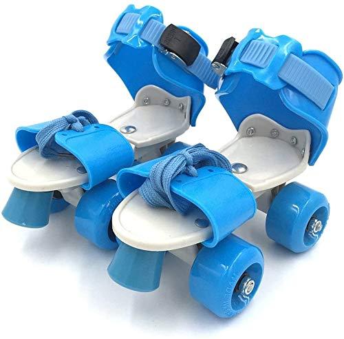 Authfort Kid's Children's Adjustable Speed Quad Roller Skates Shoes
