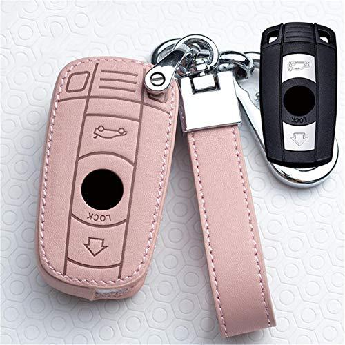 ASHDelk Funda de Cuero con Mando a Distancia para Coche, Funda para Llave Inteligente, para BMW E90 E91 E60 E87 E92 E89 1 5 3 6, Accesorios de Estilo de la Serie