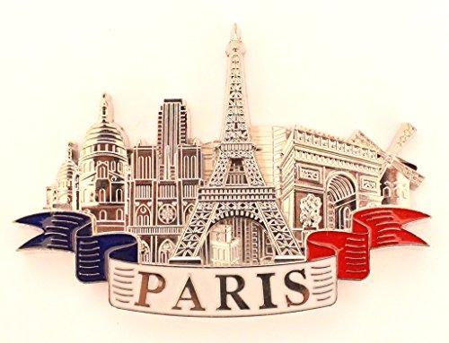 AKER Magnet Aimant de frigo Cuisine Souvenir de France Paris métal Cadeaux G179 (Argenté)