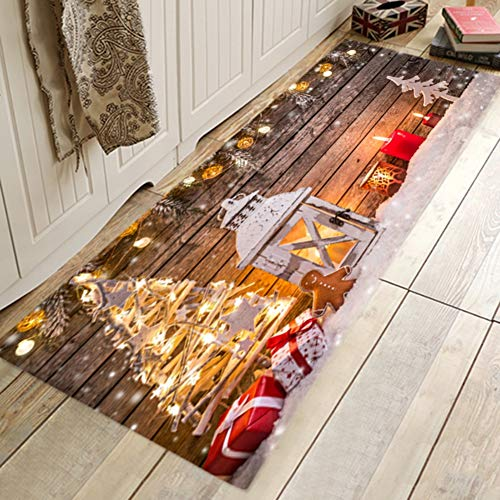 Qlans Soft Area Rug, 3D Weihnachten Esszimmer Gummi Teppich Schlafzimmer Bodenmatte Fußmatte