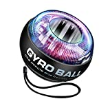MARXIAO Power Wrist Ball Ejercicios Automáticos De Muñeca Force Ball Giroscopio Ball Gyro Entrenador De Muñeca Gyro Ball Giroscopio Bola para Agarre De Mano Muñeca Fortalecimiento del Antebrazo,Negro