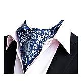 YCHENG Ascot Uomo Foulard in Seta Elegante Floral Regalo Perfetto Fazzoletti da Collo Retro J18 46'*6'