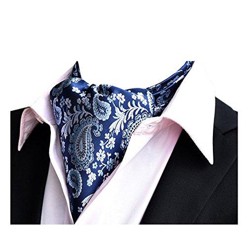 YCHENG Corbatas Bufandas de Hombre Jacquard Ascot Paisley Pa