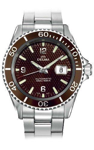 DELMA Herren-Armbanduhr Metallband Silber 407005