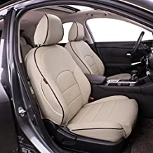 EKR Custom Fit Full Set Car Seat Covers for Select Nissan Altima SL 2017 2018 - Leatherette (Beige)