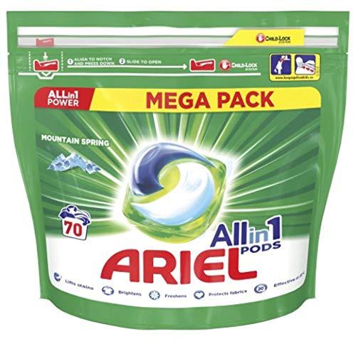 Ariel All-in-1 PODS Waschmittel - Mountain Spring - für Weiß - 70 Waschladungen / 70 kapseln
