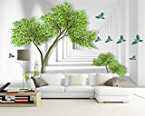 Mznm Custom wallpaper mural modern abstract tree branch space bird Photo wallpaper papel tapiz para pared moderno 350X250cm