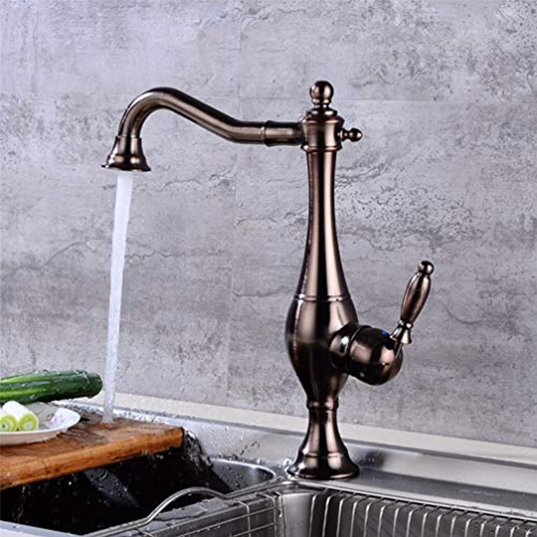 FZHLR Küchenarmatur, Orb Schwarz Küchenarmatur schwarzened Kitchen Sink Mischer-Hahn-Orb l Brushed Schwarz Kran-Hahn-Wannen-Mischer-Hahn, Orb
