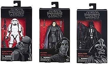 "Star Wars The Black Series Stormtrooper 6"" #48 & Kylo Ren & Darth Vader Set of 3 Toy Figure"