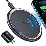 TORRAS Fast Wireless Charger, with [18W QC 3.0 Charger] Compatible with iPhone12/12 Pro /12Pro Max /12Mini /11 /X/XS Max /8 AirPods Pro, Samsung Note 20/10, S20 /S10 /S9