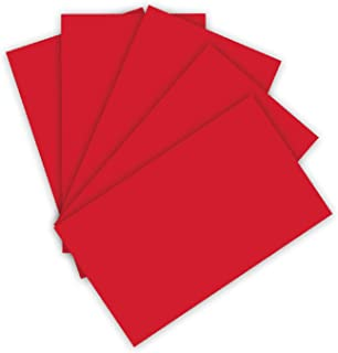 Folia- Lot de 100 Feuilles de Papier cartonné 220 g/m² -Rouge Vif-Format A4-pour de Nombreux travaux manuels, 10263314