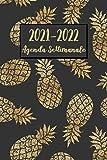 Agenda Settimanale 2021-2022: Ananas Agenda 2021-2022 | Calendario, Diario, Formato A5 (6x9) - regali di tropicale