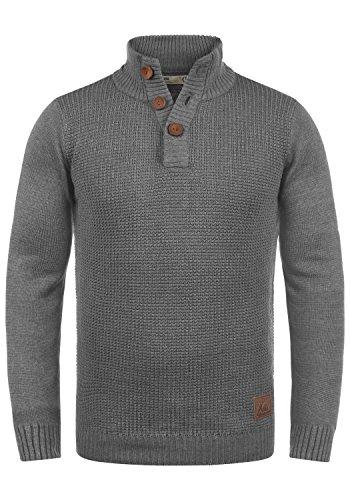 !Solid Travon Maglione con Collo Alto Pullover Troyer da Uomo Abbottonatura, Taglia:M,...