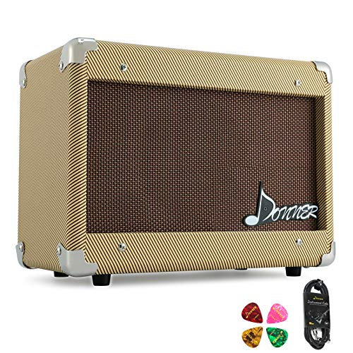 Donner 15W AMP Acoustic Guitar Amplifier Kit DGA-1 with 10 Feet Guitar Cable