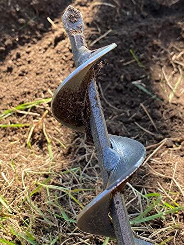Codirom Auger Drill Bit Garden Drill Bit Garden Plant Auger Hole Digger 1.6 x 9 and 3 x 9