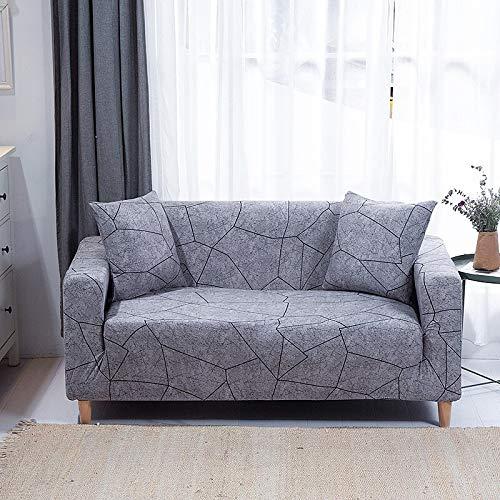 WXQY Funda de sofá elástica Impresa, Funda de sofá, Funda de sofá elástica con Todo Incluido, Utilizada para la Funda de protección de sofá de Esquina A26 2 plazas