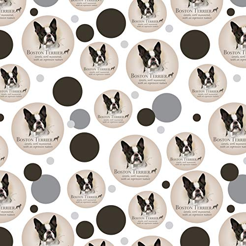 GRAPHICS & MORE Boston Terrier Dog Breed Premium Gift Wrap Wrapping Paper Roll