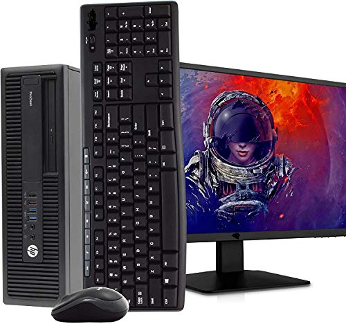 "HP 600 G1 Small Form Desktop Computer PC, Intel Core i5 3.2GHz, 16GB Ram, 120GB M.2 SSD, 2TB HDD, WiFi, Bluetooth, HP 23.8"" LCD Monitor, Wireless Keyboard & Mouse, Win 10 Pro (Renewed"