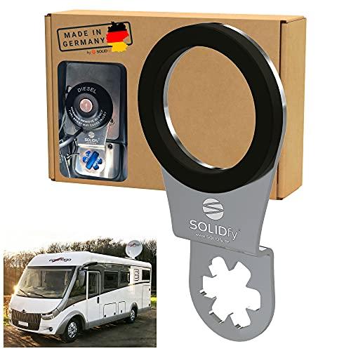 SOLIDfy® - AdBlue Verschluss Sicherung aus Edelstahl für Carthago Vollintegriert auf Fiat Ducato Basis