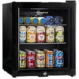 Subcold Super50 LED – Mini Fridge Black | 50L Beer, Wine & Drinks Fridge | LED Light + Lock & Key | Low Energy A+ (Black)