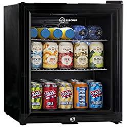 SUBCOLD TEMPERATURE PERFORMANCE - Premium Mini Fridge with Advanced Compressor Cooling Technology Built in with Subcold Temperature range of 0 - 10°C [Adjustable Thermostat] Suitable for Wine Bottles, Beer Cans, Soft Drinks, Milk, Snacks and Much Muc...
