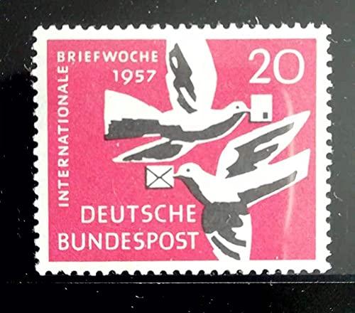 FGNDGEQN Colección de Sellos Estampillas alemanas 1957 Comunicación Internacional Palomas semanales 1 Nuevo MNH